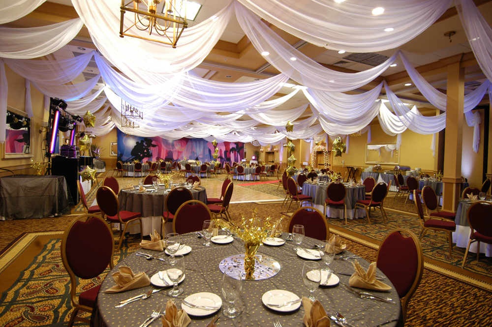 W Drapings Custom Event Draping Chiffon Ceiling